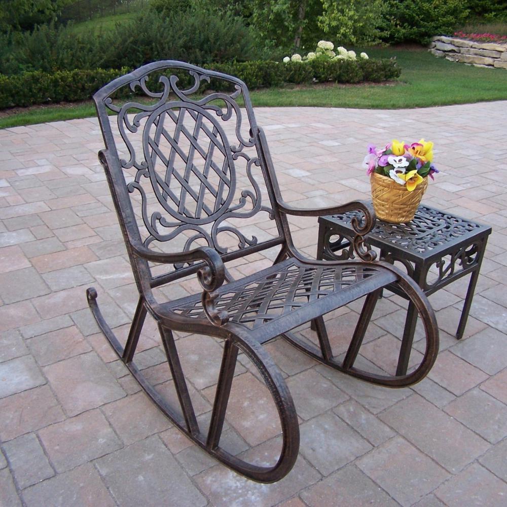 Mississippi Antique Bronze 2-Piece Outdoor Bistro Set by
