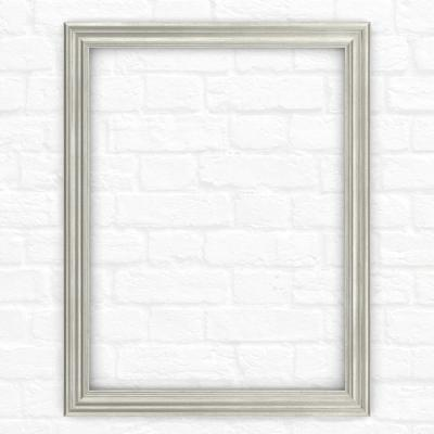 21 in. x 28 in. (S1) Rectangular Mirror Frame in Vintage Nickel