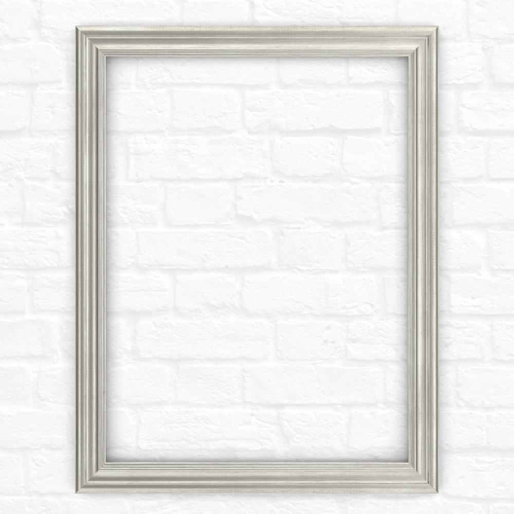 21 in. x 28 in. (S1) Rectangular Mirror Frame in Vintage Nickel