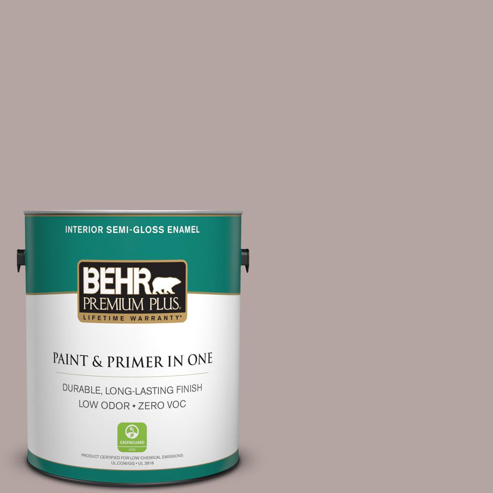 BEHR Premium Plus Home Decorators Collection 1-gal. #HDC-NT-19 Lavender Suede Zero VOC Semi-Gloss Enamel Interior Paint