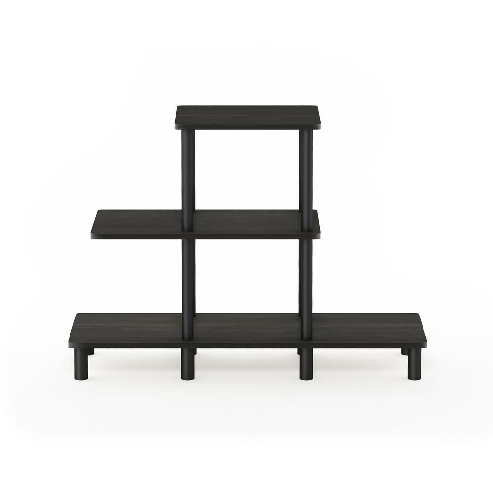 Furinno Turn-N-Tube 27.83 in. Plastic 3-shelf Etagere Bookcase