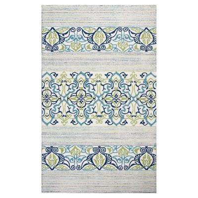 Blue Serenity 5 ft. x 7 ft. All-Weather Area Rug