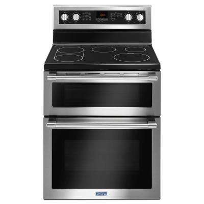 30 in. 6.7 cu. ft. Double Oven Electric Range with Convection Oven in Fingerprint Resistant Stainless Steel