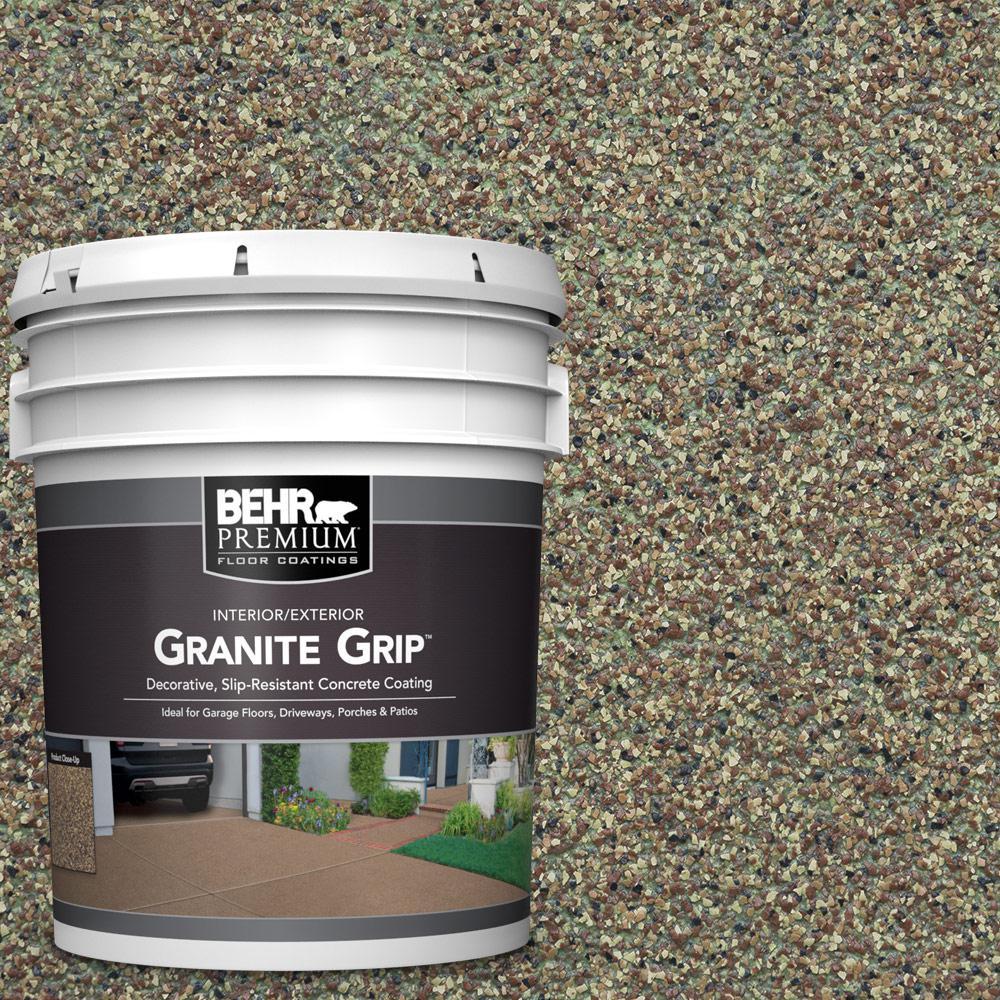 5 Gal. #GG-12 Imperial Jade Decorative Flat Interior/Exterior Concrete Floor Coating