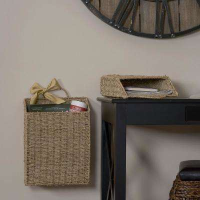 Seagrass Wicker Wall Basket Set