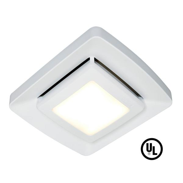 Broan Nutone Quick Installation Bathroom Exhaust Fan Grille Cover With Led Fg500ns The Home Depot
