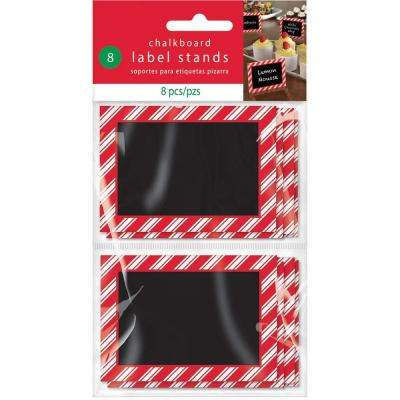 2.375 in. x 3.375 in. x 0.125 in. Christmas Chalkboard Label Stand (8-Count, 3-Pack)