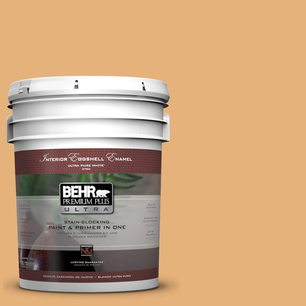 BEHR Premium Plus Ultra 5 gal. #300D-4 High Plateau Eggshell Enamel Interior Paint and Primer in One