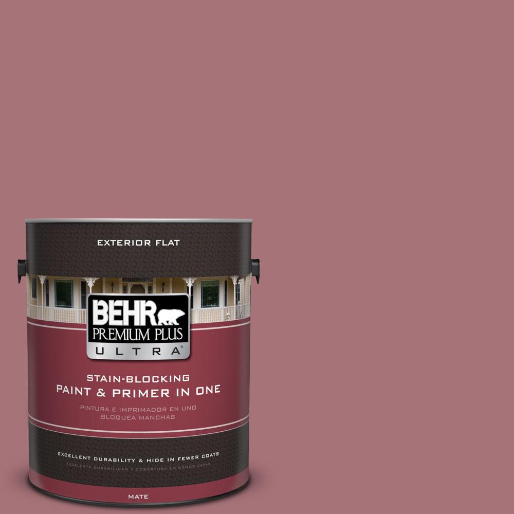 BEHR Premium Plus Ultra 1-gal. #S130-5 Heirloom Rose Flat Exterior Paint