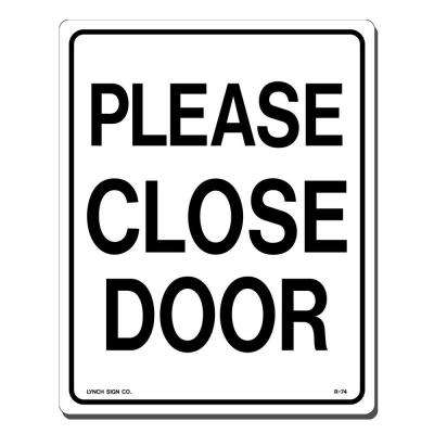 8 in. x 10 in. Please Close Door Sign Printed on More Durable, Thicker, Longer Lasting Styrene Plastic