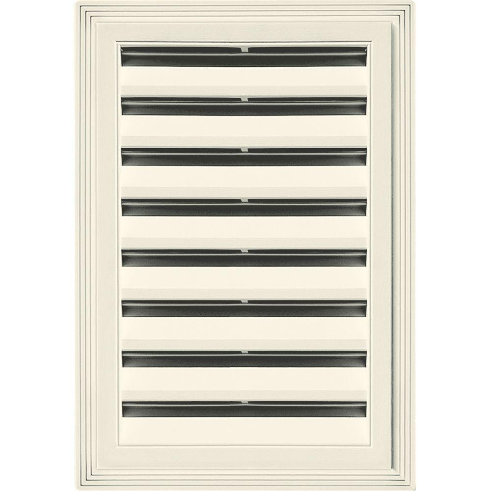 12 in. x 18 in. Rectangle Gable Vent #082 Linen