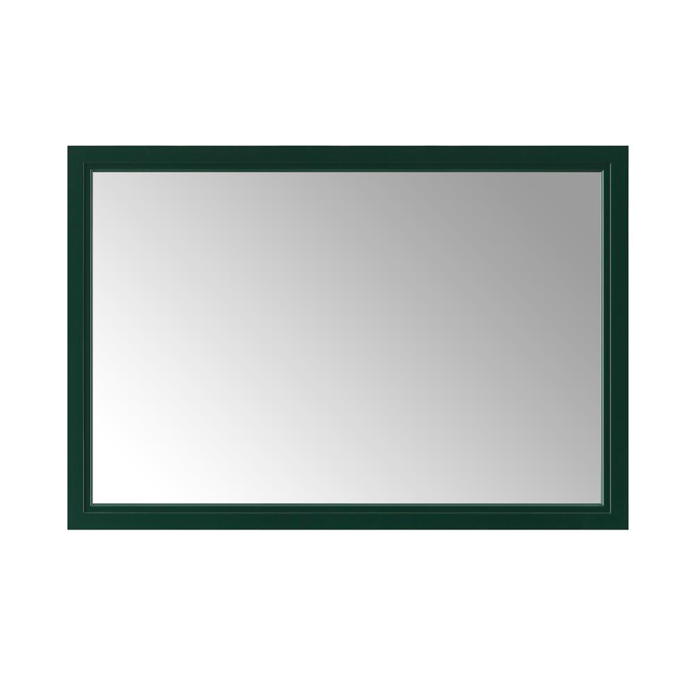 Home Decorators Collection Sandon 46 in. x 30 in. Single Framed Wall Mirror in Emerald Green