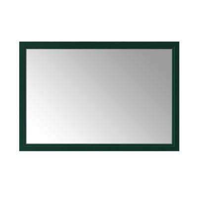 Sandon 46 in. x 30 in. Single Framed Wall Mirror in Emerald Green