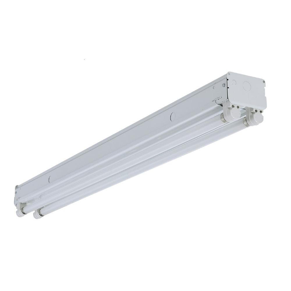 Lithonia Lighting UN296HO 8 Ft. 2-Light White Fluorescent