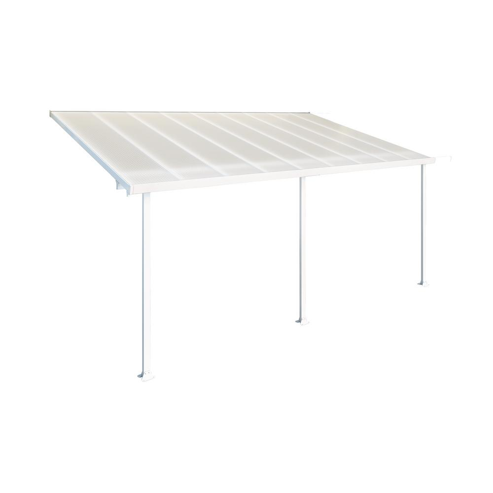 Palram Feria 10 Ft. X 20 Ft. White Patio Cover Awning