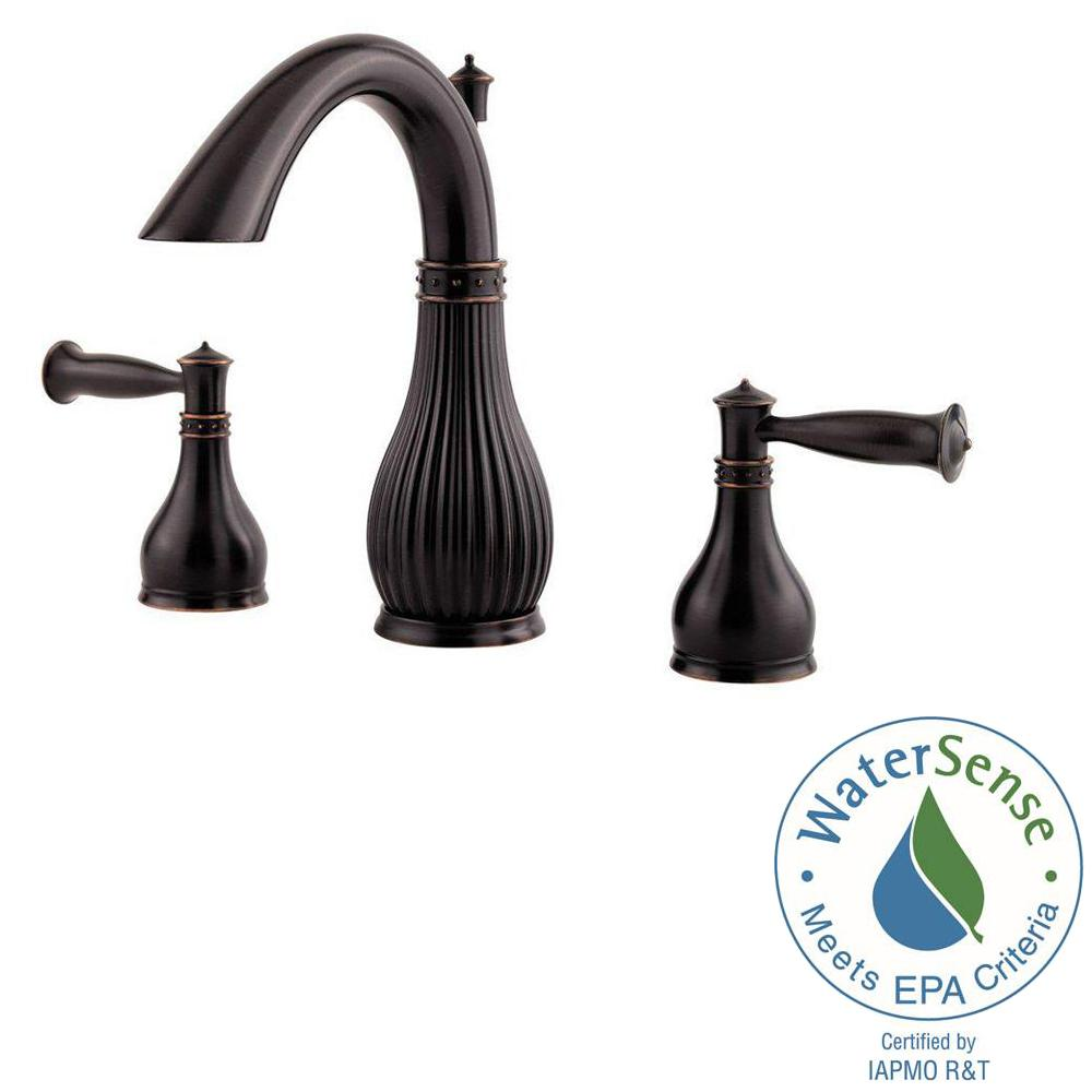 Pfister Virtue In Widespread Handle Bathroom Faucet In Tuscan - Pfister selia bathroom faucet