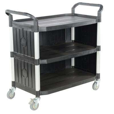43 x 20 in. 3-Shelf Commercial Cart with Panels
