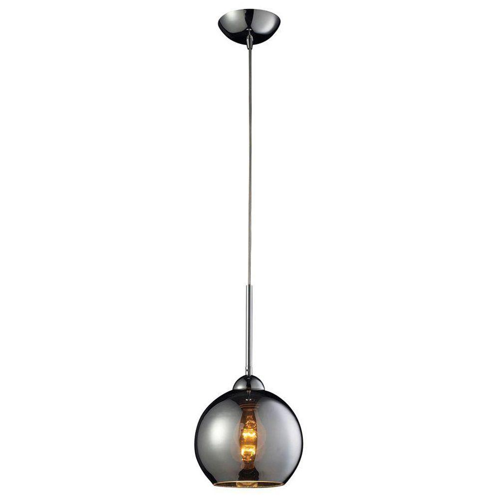 Cassandra 1-Light Polished Chrome Ceiling Mount Pendant