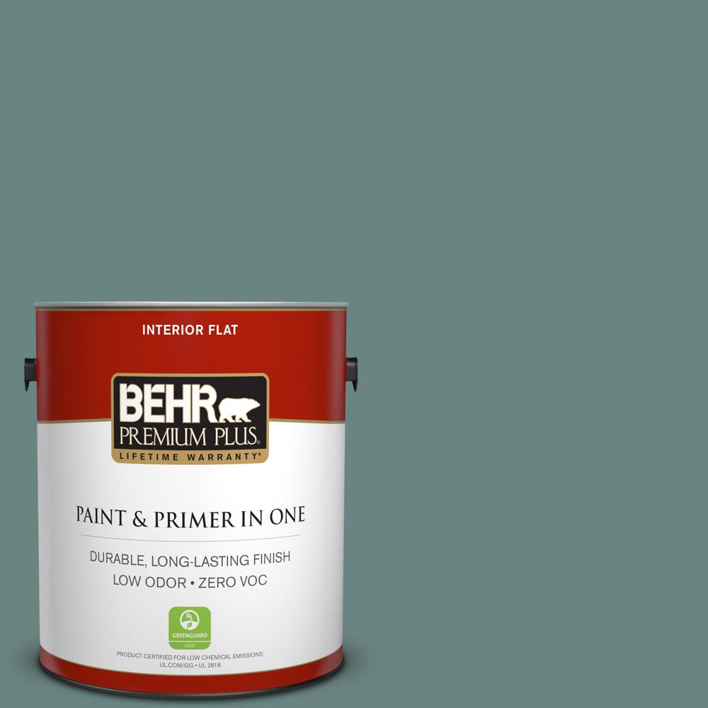 BEHR Premium Plus 1-gal. #480F-5 Marsh Creek Zero VOC Flat Interior Paint