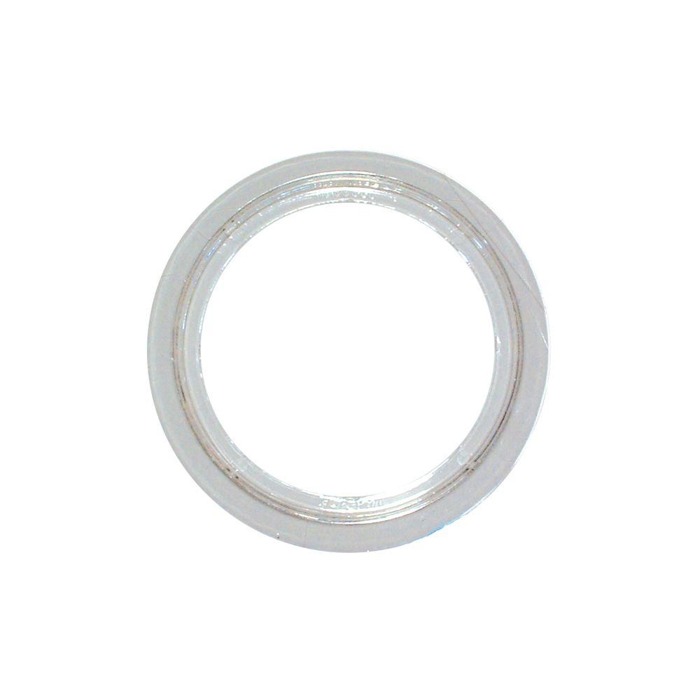 RACO 5-1/4 in. Round Clear Polycarbonate Carpet Flange