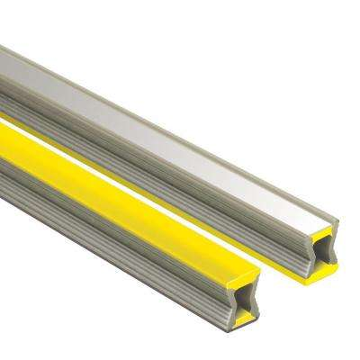 Dilex-EZ Yellow with Chrome Inlay 11/32 in. x 8 ft. 2-1/2 in. PVC Movement Joint Tile Edging Trim