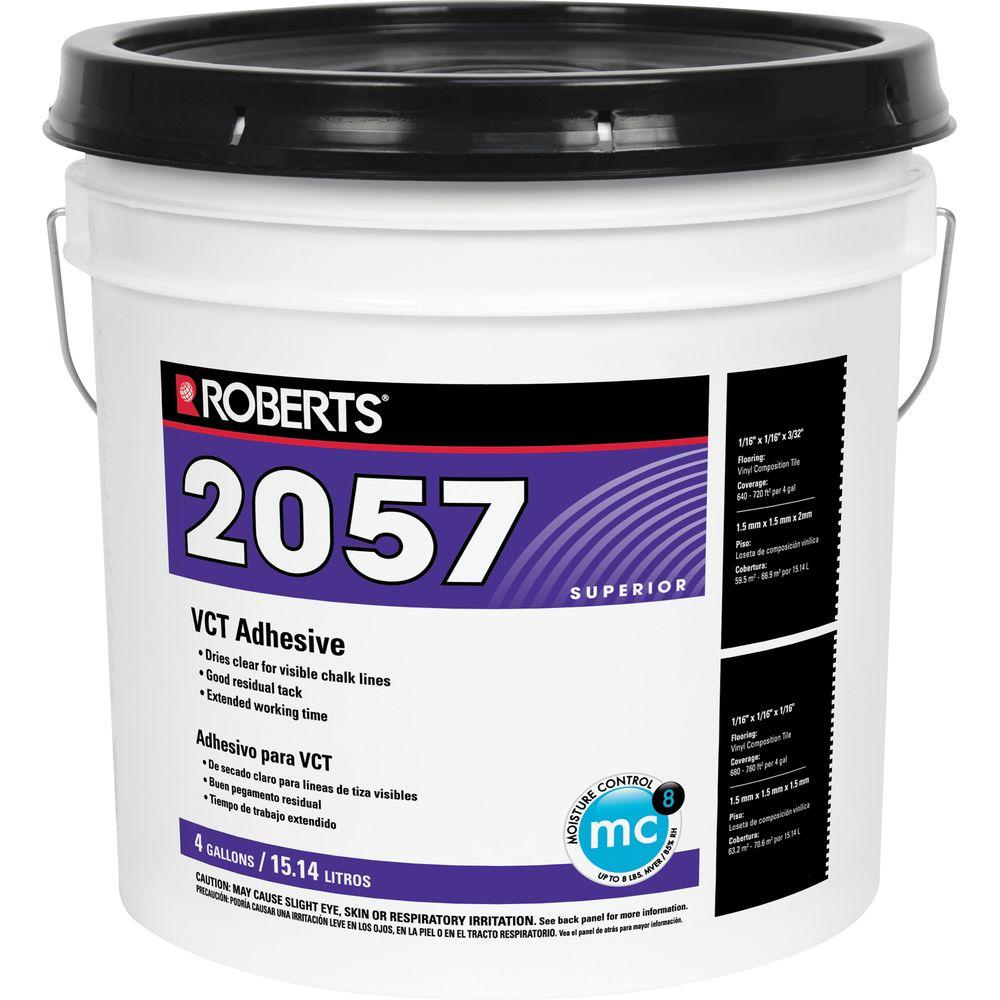 Roberts 4 Gal Premium Vinyl Tile Glue Adhesive 2057 4 The Home Depot