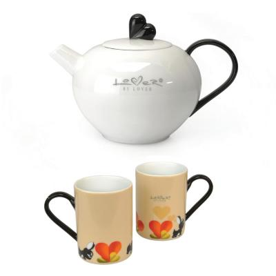 Lover by Lover 3-Piece 5.2-Cups Porcelain Coffee Set