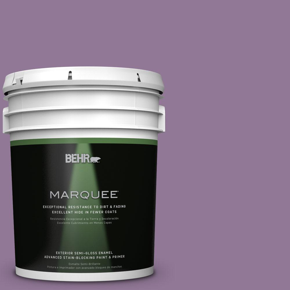 BEHR MARQUEE 5-gal. #M100-5 Passion Fruit Semi-Gloss Enamel Exterior Paint