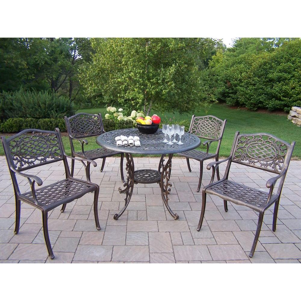 Living Home Patio Sets: Oakland Living Mississippi Patio 5-Piece Dining Set-2011