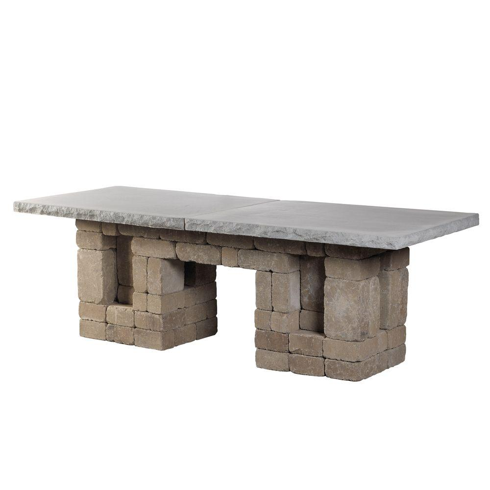 Necessories santa fe rectangle patio dining table 4201133 for Home depot patio installation
