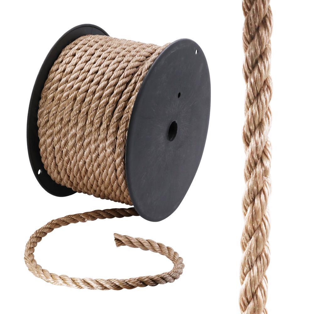 5/8 in. x 200 ft. Polypropylene Twist Rope, Brown