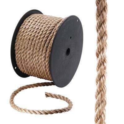 5/8 in. x 200 ft. Polypropylene Twist Rope, Brown