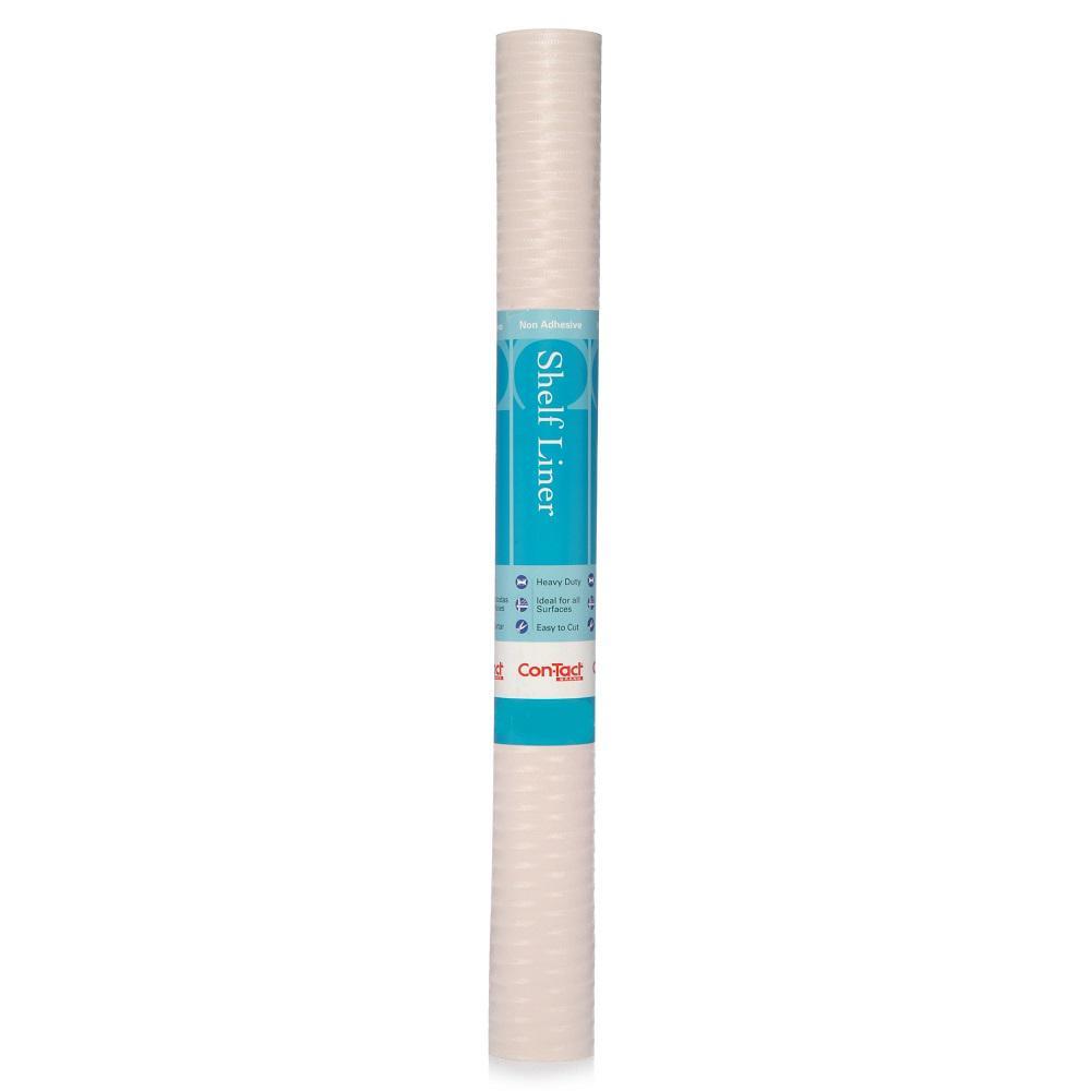 Con-Tact Almond Herringbone Adhesive Shelf and Drawer Liner (Set of 6)