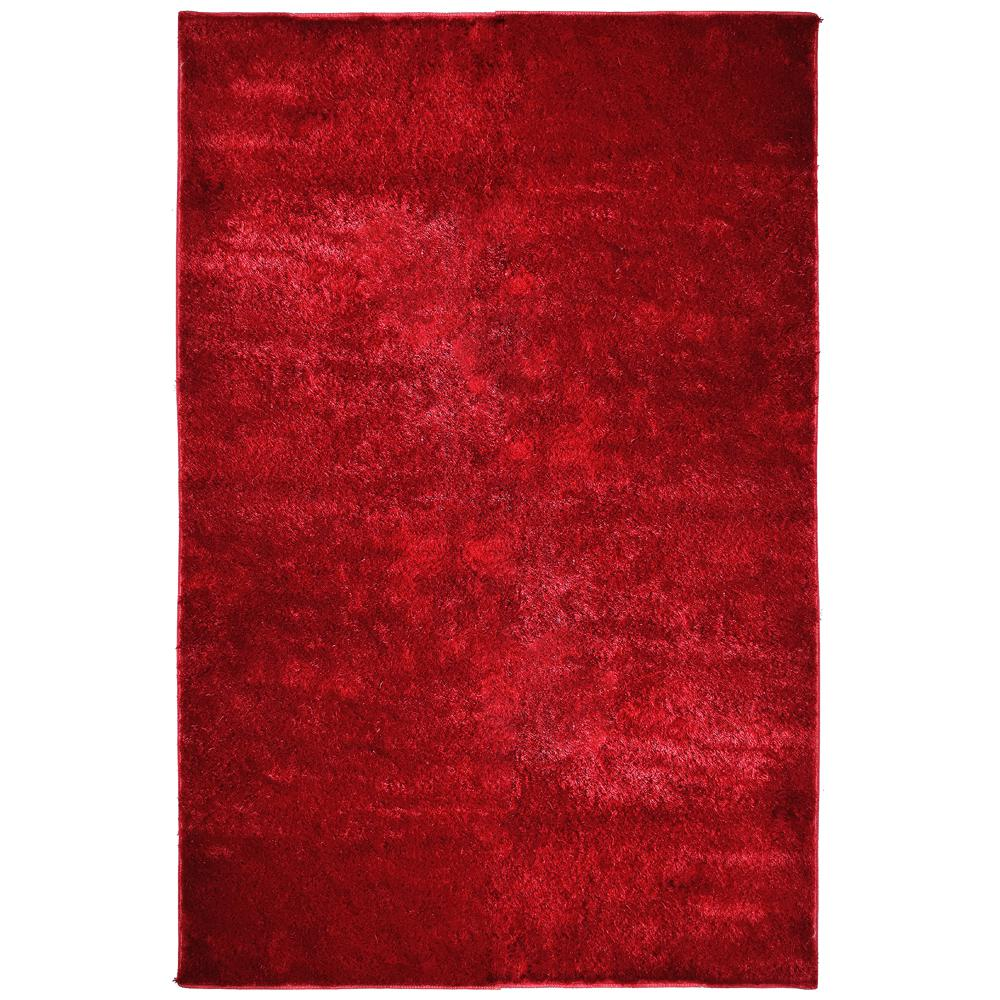 Lanart Silk Reflections Red 3 ft. x 5 ft. Area Rug