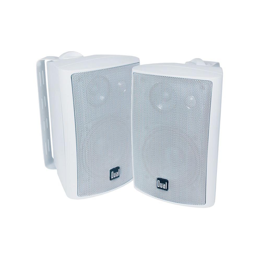 Dual 100-Watt 3-Way Indoor/Outdoor Speakers