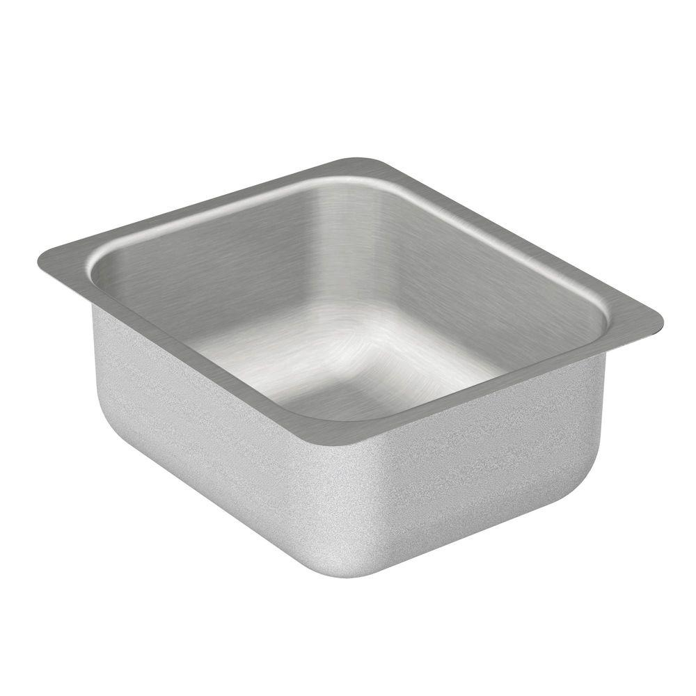 MOEN 2000 Series Undermount Stainless Steel 12 In. Single Bowl Bar Sink G204502    The Home Depot