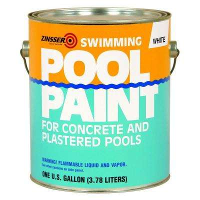 1 gal. White Flat Oil-Based Swimming Pool Paint (Case of 4)