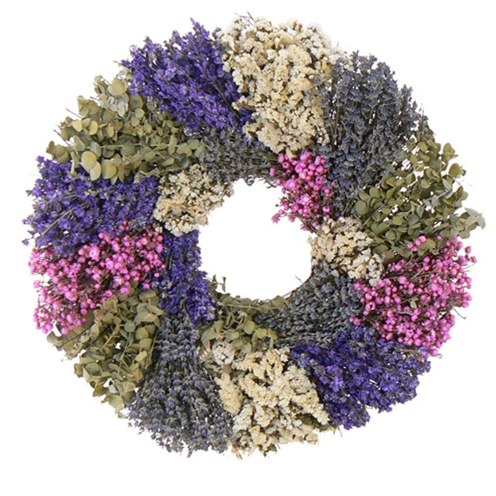 The Christmas Tree Company Lavender Wilderness 22 in. Dried Floral Wreath-DISCONTINUED