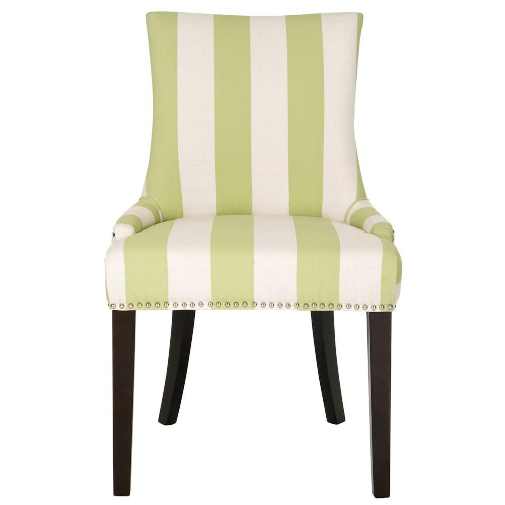 Safavieh Lester Multi Stripe Linen Blend Dining Chair (Set