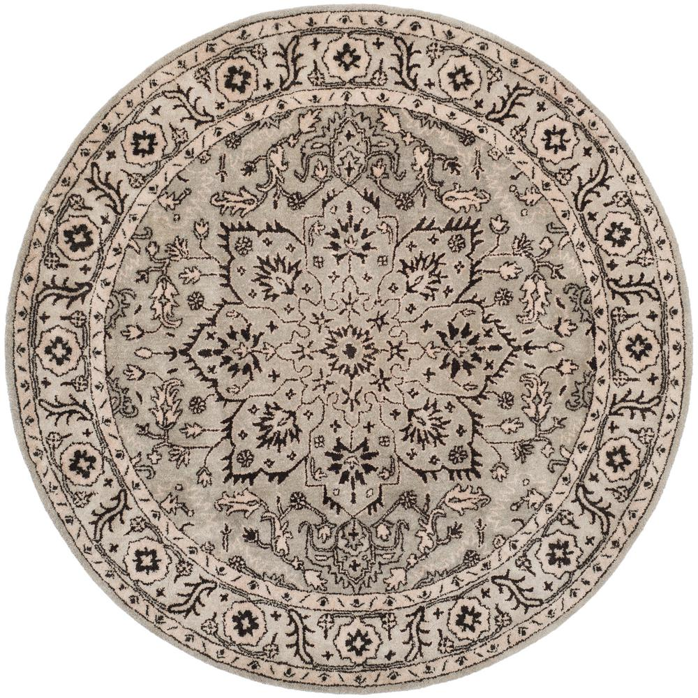 Antiquity Gray/Beige 6 ft. x 6 ft. Round Area Rug