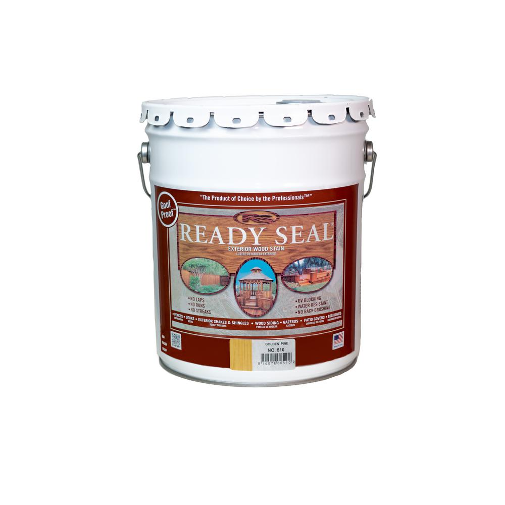 Ready Seal 5 Gal. Golden Pine Exterior Wood Stain and Sealer