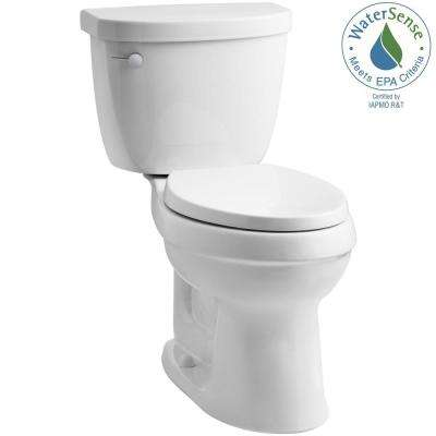Cimarron 2-Piece 1.28 GPF Single Flush High Efficiency Elongated Toilet with AquaPiston Flushing Technology in White