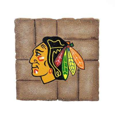 Chicago Blackhawks 12 in. x 12 in. Decorative Garden Stepping Stone