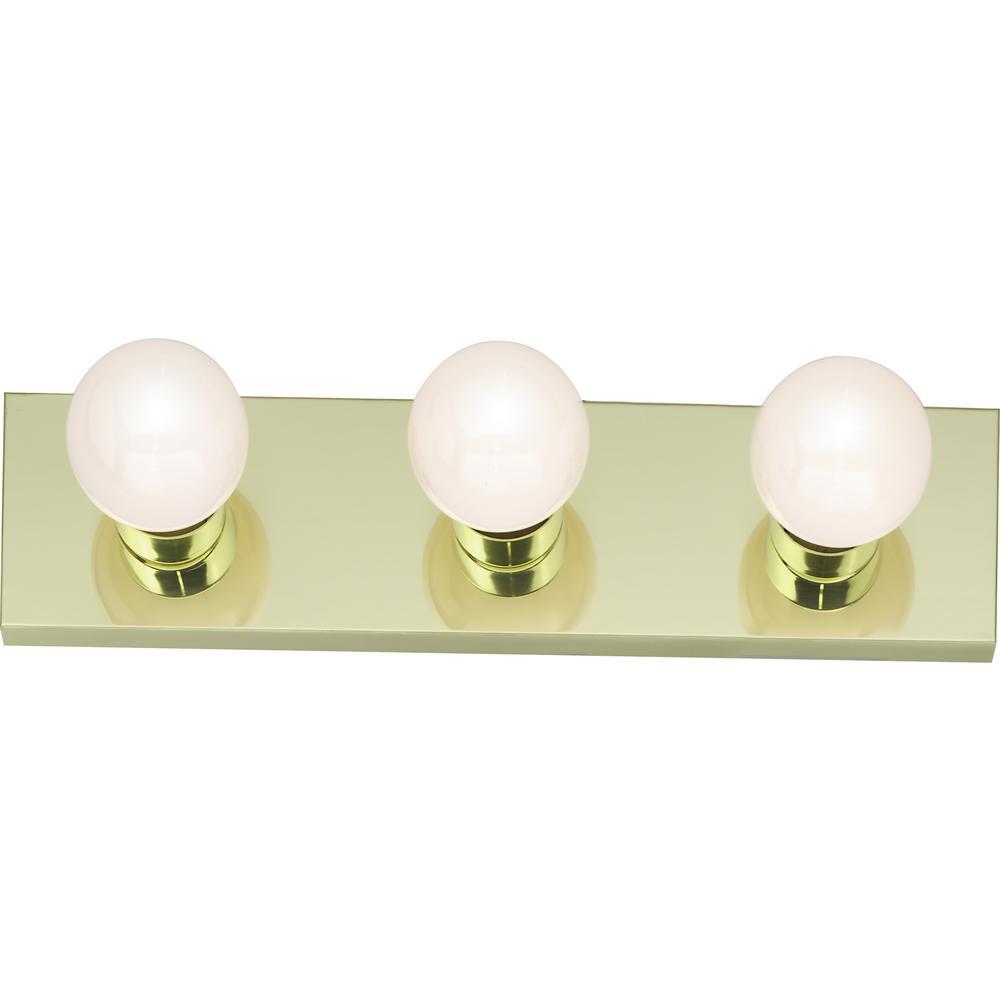 Tony 18.00 in. 3-Light Polished Brass Vanity Light