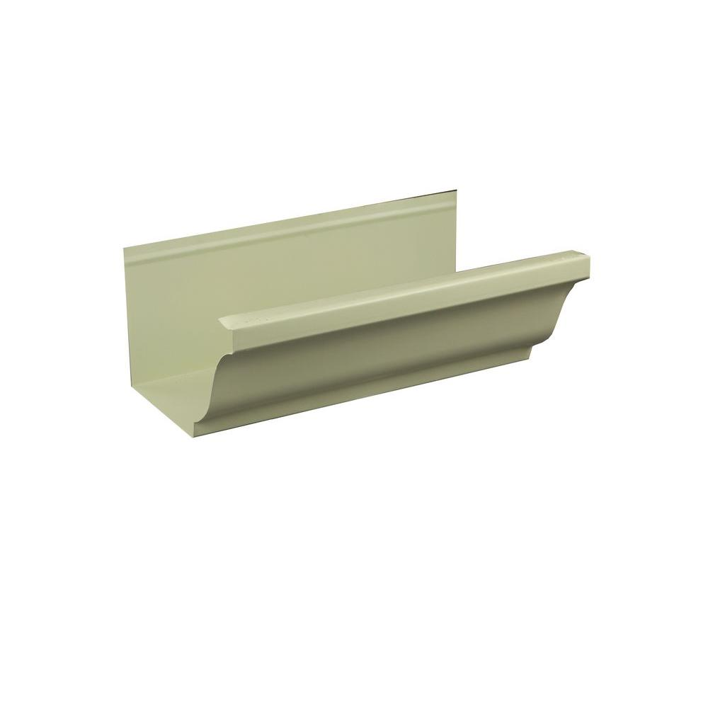 5 in. x 8 ft. K-Style Cream Aluminum Gutter
