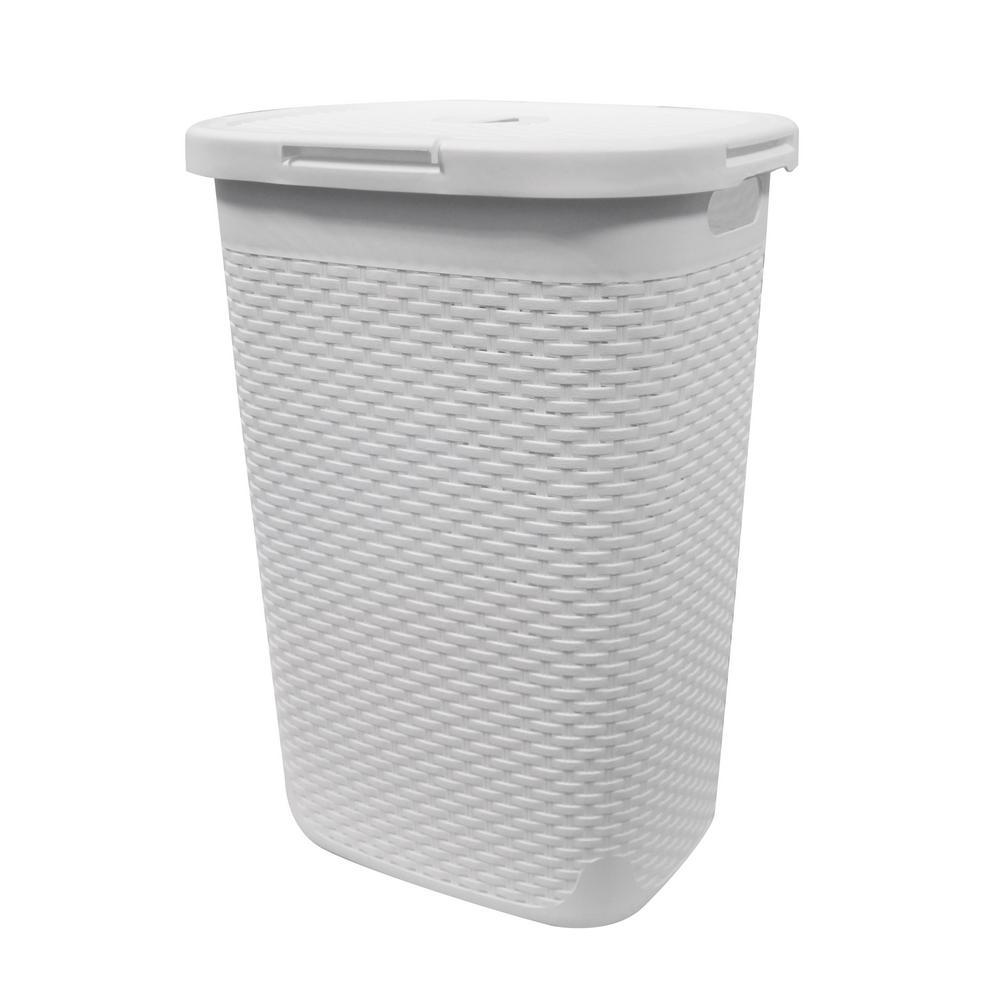 Modern Homes 60 L Laundry Hamper White