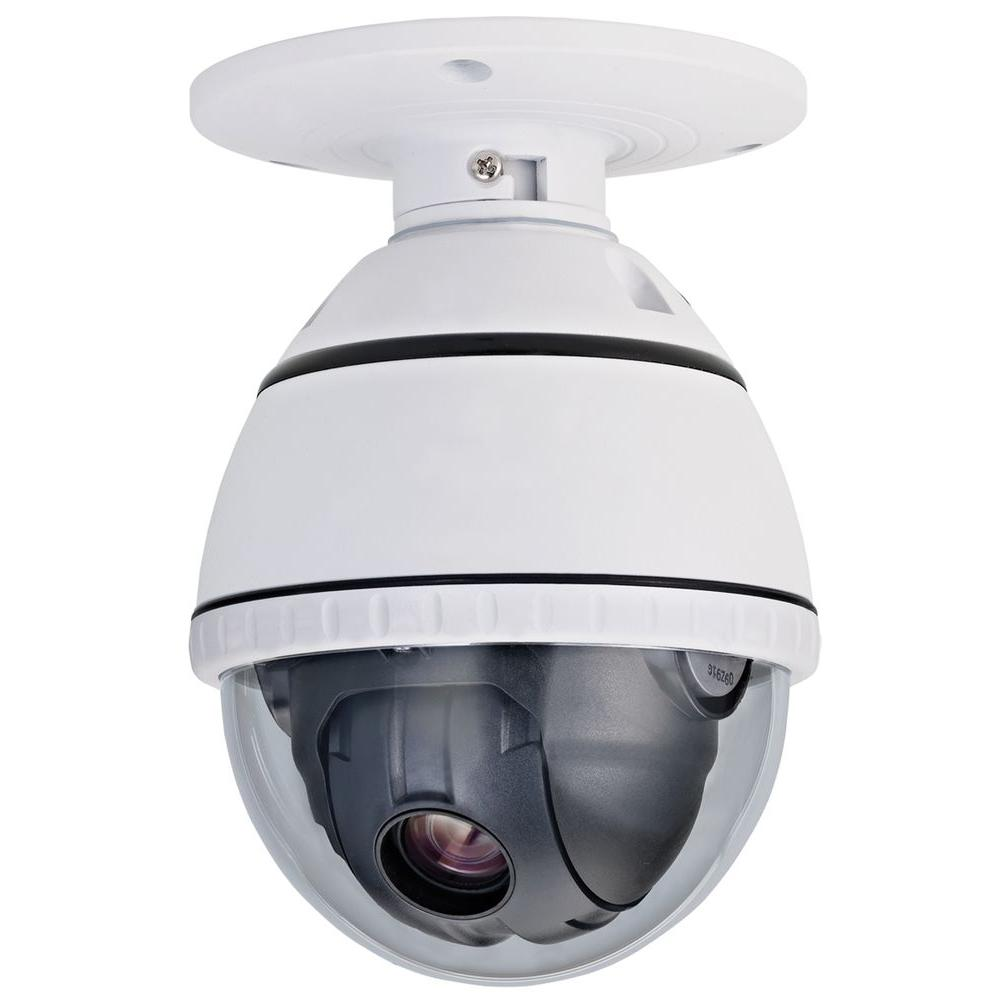 Wired 500TVL PTZ Indoor CCD Dome Surveillance Camera with 10X Optical