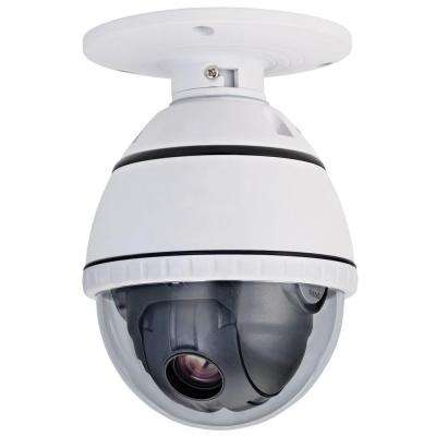 Wired 500TVL PTZ Indoor CCD Dome Surveillance Camera with 10X Optical Zoom