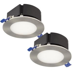 BAZZ 4 inch Top Box Slim Brushed Chrome Intergrated LED Recessed Fixture Kit... by BAZZ