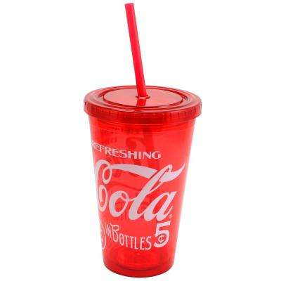 Retro Legacy 18 oz. Tumbler with Lid and Straw